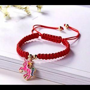 Jewelry - Handmade Horse Rope Bracelet Bangle FriendshipPink